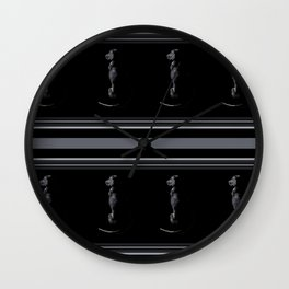 Black on Black Lab Wall Clock