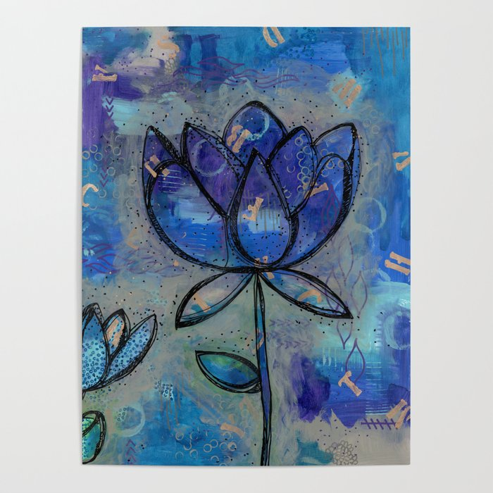 Abstract lotus flower intuitive poster by nicolegiger society6 mightylinksfo