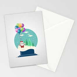 Santa Ride Ballons Stationery Cards