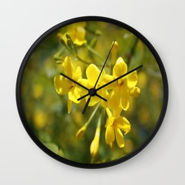 Fragrant Yellow Flowers Of Carolina Jasmine Wall Clock
