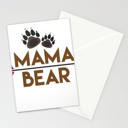 Mama Bear Mothers Day Gift - Shirt Stationery Cards