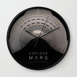 Explore Mars Wall Clock