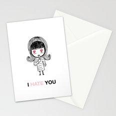 I Hate You / Mask Stationery Cards