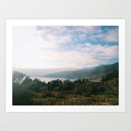 Kirk Creek, Big Sur Art Print