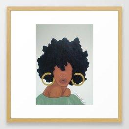 Poised. Framed Art Print