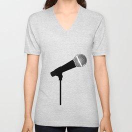 Microphone Unisex V-Neck