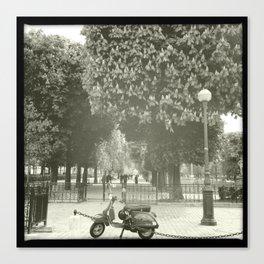 Paris Moped Canvas Print
