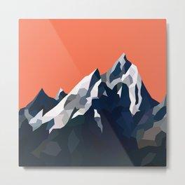 Geo Mountain Range (Part 1) Metal Print