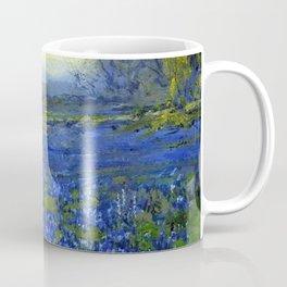 Meadow of Wild Blue Irises, Springtime by Maria Oakey Dewing Coffee Mug