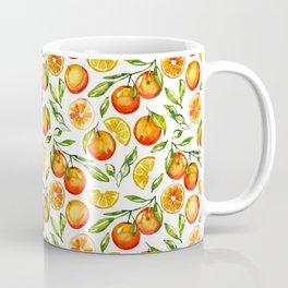 orange pattern tangerine citrus print Coffee Mug