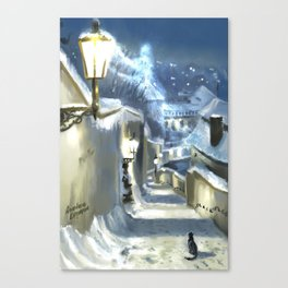 The Ghost of Winter Prague Canvas Print