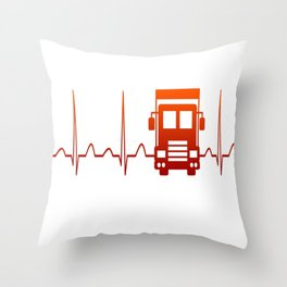 TRUCK DRIVER HEARTBEAT Throw Pillow