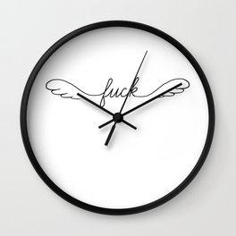 Flying Fuck - White - Single Wall Clock