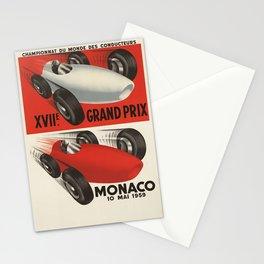 Vintage Monaco Grand Prix Poster - Circa 1959 Stationery Cards
