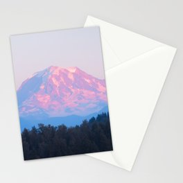 Mount Rainer Alpenglow Stationery Cards