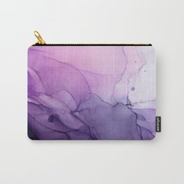 Purple Amethyst Crystal Inspired Abstract Flow Painting Carry-All Pouch