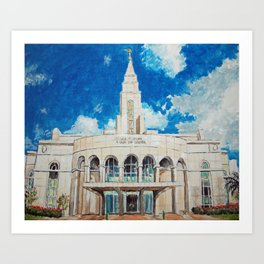 Recife Brazil LDS Temple Art Print