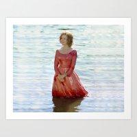 jessica lange Art Prints featuring Jessica Lange - Big Fish by BeeJL