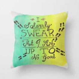 Solemnly Swear Throw Pillow
