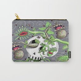 skull pot with carnivorous plants Carry-All Pouch