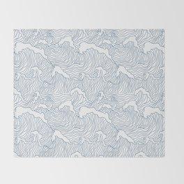 Japanese Wave Throw Blanket