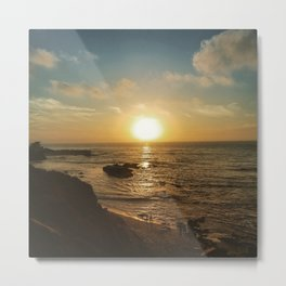 Children's Pool Sunset Metal Print