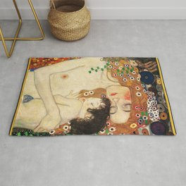 Mother and Baby - Gustav Klimt Rug