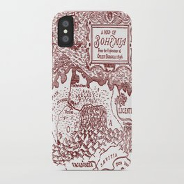 Map of Bohemia (red) iPhone Case