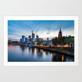 Frankfurt Skyline Art Print