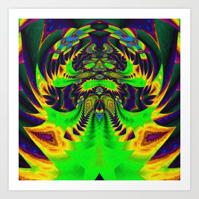 Rainbow Winged Serpent Art Print
