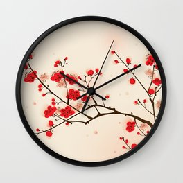 Oriental plum blossom in spring 009 Wall Clock