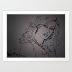 Yvonne Strahovksy ~ Agent: Walker  Art Print
