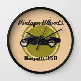 Vintage Wheels: Bugatti 35B Wall Clock