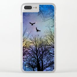 Wisdom Of The Night - Colorful Clear iPhone Case