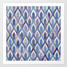 Art Deco Marble Pattern III. Art Print