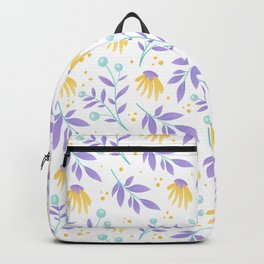 Yellow flowers and purple leaves Backpack