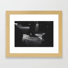 on stage Framed Art Print