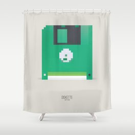 Pixelated Technology - Diskette Shower Curtain