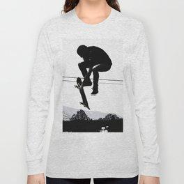 Flying High Skateboarder Long Sleeve T-shirt