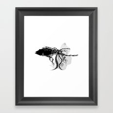 Lacy Fish Framed Art Print