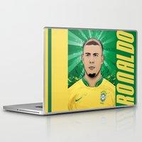 ronaldo Laptop & iPad Skins featuring Football Legends: Ronaldo R9 Brasil  by Akyanyme