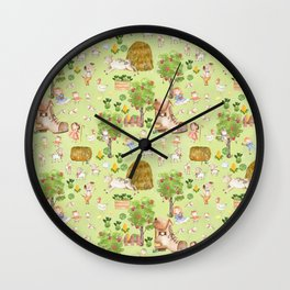 Mary Had A Little Lamb - Children´s Fairytale Pattern Wall Clock