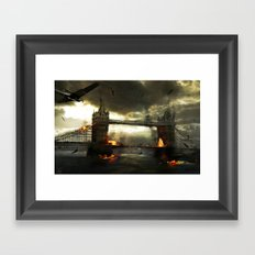 Thames Battle Framed Art Print