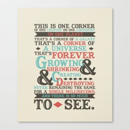 There Is So Much To See Canvas Print