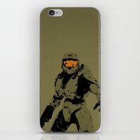 master chief iPhone & iPod Skins featuring Master Chief Redux by Anthony Bellus