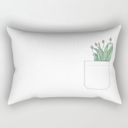 pocket of ribwort Rectangular Pillow