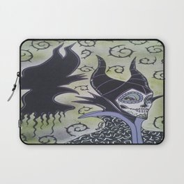 Maleficent Sugar Skull Laptop Sleeve