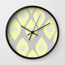 Eye Pattern Yellow Wall Clock
