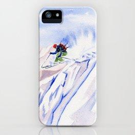 Powder Skiing iPhone Case