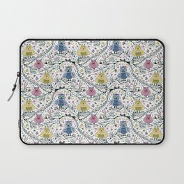 Cute Owl Friends on Tree Branches Laptop Sleeve